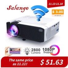 Salange proyector Mini E400S, WiFi, proyector de vídeo, inalámbrico o USB para iPhone y Android, proyector wi fi con HDMI VGA AV