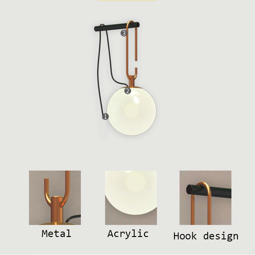 Nordic Acrylic Shade LED Wall Lights Bedroom Bedside Lighting Decor Wall Lamp Aisle Corridor Staircase Hanglamp Kitchen Fixtures in LED Indoor Wall Lamps from Lights Lighting