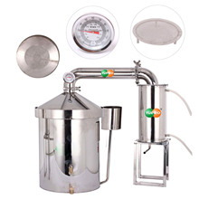 цены 120 L Liters 30 Gal Home Distiller Moonshine Still Wine Whisky Alcohol Oil Water Boiler Stainless Steel & Thumper Keg Brew Kit
