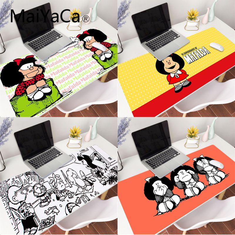 MaiYaCa Mafalda mouse pad gamer play mats Gaming Mouse Pad Large 70x30 80x30cm Deak Mat for overwatch/cs go/world of warcraft