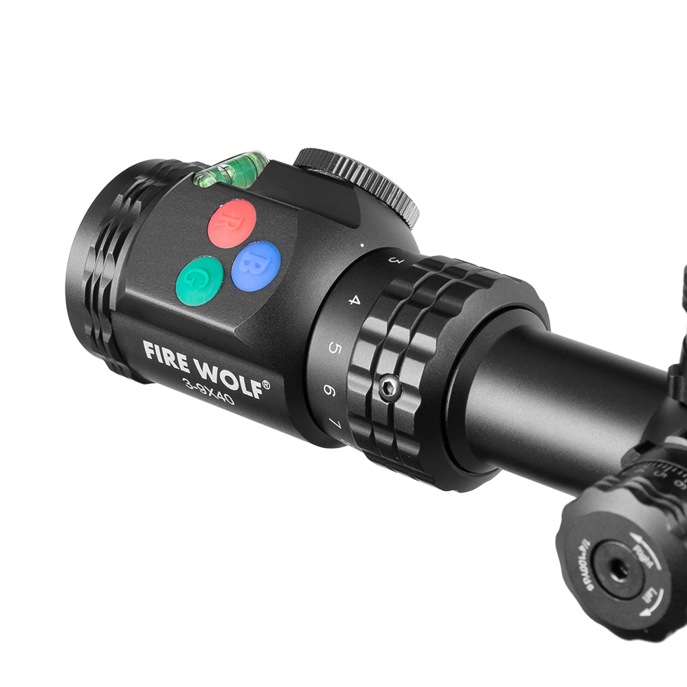 3 9x40 riflescope tatico rifle optico ambito rgb 04