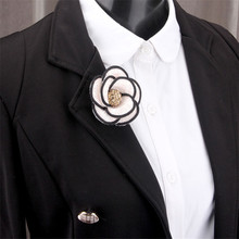 High Quality Welt Flowers Cloth Brooch For Women AAA Rhinestone Crystal Flower Bud Clip Pins Camellia Wedding Jewelry