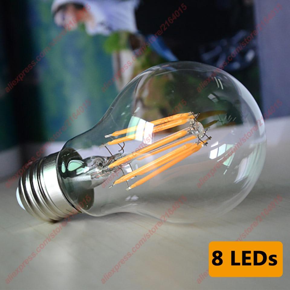 Ampoule à Filament en verre Led Ampoule à la maison C35 Led E14 bougie lampe à économie dénergie lampe Bombilla G45 E27 COB 220v 2W 4W 6W 8W