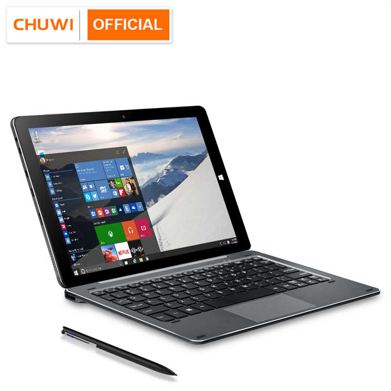 CHUWI Hi10 Air Intel Cherry Trail-T3 Z8350 Quad Core Windows 10 Tablet 10.1 Inci 1920*1200 4GB RAM 64GB ROM TYPE C 2 Dalam 1 Tablet