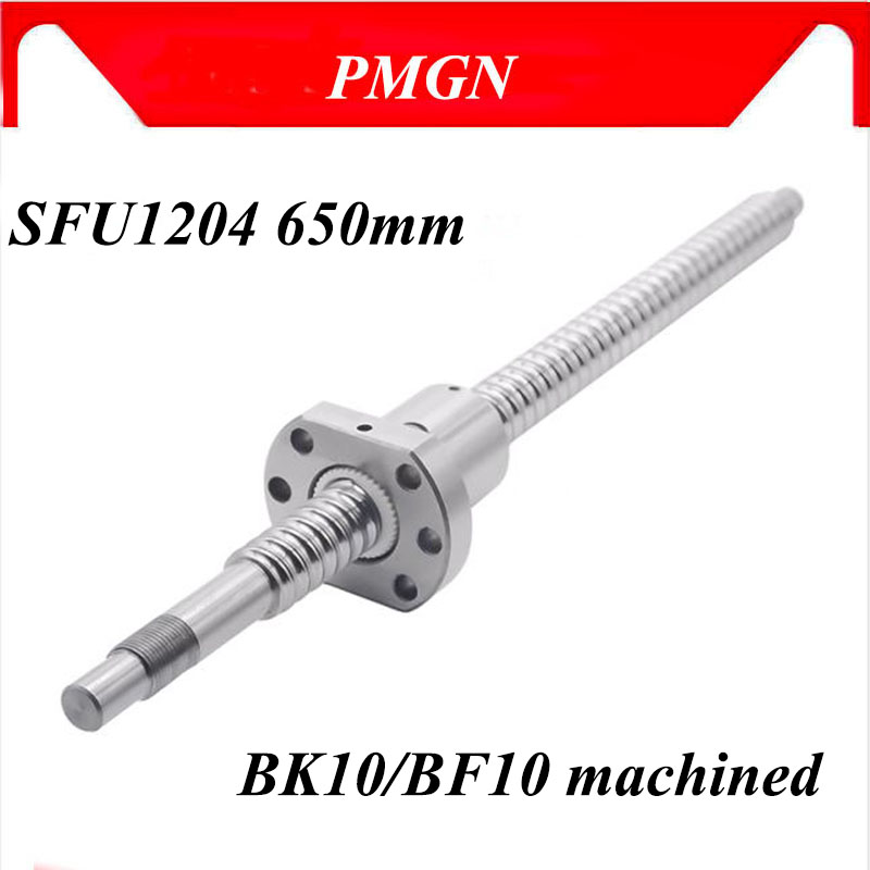 SFU1204 L800mm rolled ball screw C7 with 1204 for BK//BF10 end machined CNC parts