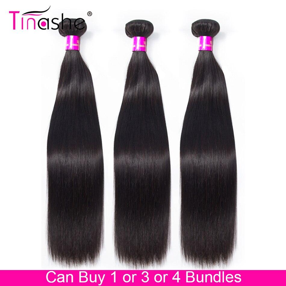 Mechones de cabello lacio brasileño Tinashe 100% mechones de cabello humano postizo puede comprar 1/3/4 mechones 8-30 pulgadas extensiones de cabello Remy