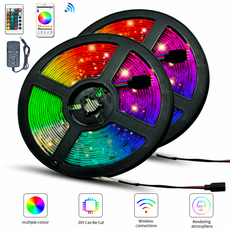 LED Strip Light Bluetooth luces Led RGB 2835 Waterproof  Flexible Lamp Tape Ribbon TV Desktop Screen Backlight Bias lighting
