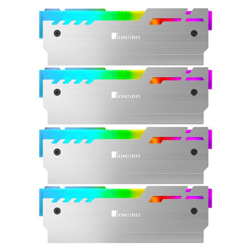 Jonsbo NC-3 4x Gorgeous Desktop Memory Heatsink Cooler Shell 5V RGB Radiator Heat Sink Cooling Vest