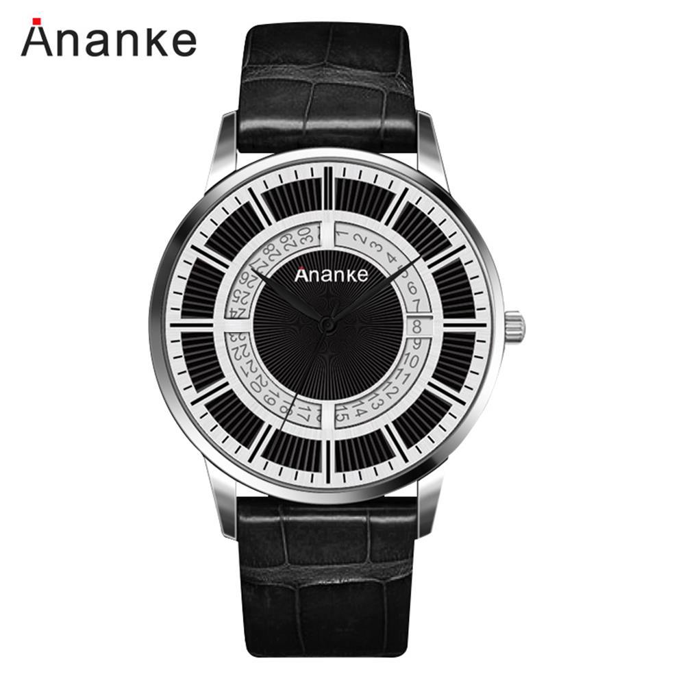 Hommes montre à Quartz Unique anniversaire cadeaux pour mari en cuir de luxe mode homme montre-bracelet Reloj Hombre 2019 Reloj