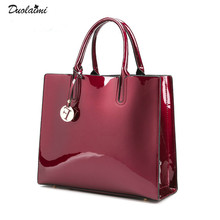 Fashion Solid Patent Leather Women Bags