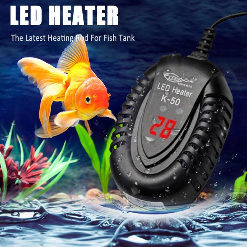 Цифровой аквариумный нагреватель аквариумные электронагревательные стержни цифровой регулятор температуры в аквариуме для рыб черепахов...