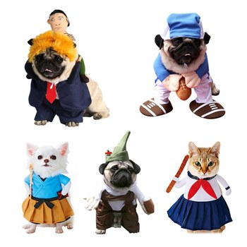 Halloween Dog Costumes Funny Pet Clothes Adjustable Christmas Dog Cosplay Costume Clothing For Medium Large Dogs Bulldog Pug image