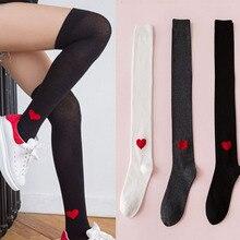 Сексуальные модные женские носки, чулки, зима-осень, теплые облегающие Высокие гольфы, Длинные хлопковые чулки
