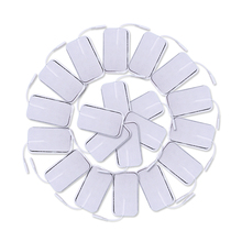 50 Pcs Self adhesive Electrode Pads Massage Slimming Gel Patch For Tens Acupuncture Therapy Body Massager Muscle Stimulator 2mm