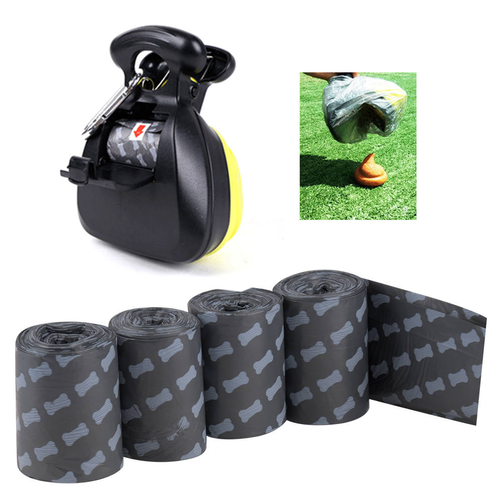 6 Rolls Degradable Pet Dog Waste Poop Multifunction Bag With Printing Doggy Bag Pet Waste Clean Poop Bags Portable Travel
