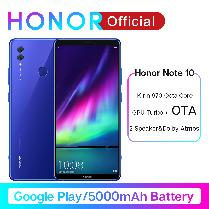 Original Honor Note 10 Google Play Smartphone Kirin 970 Octa core 6.95 inch 24MP+16MP AI Cameras 5000mAh Moblie Phone Android image