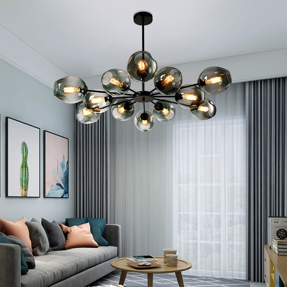 Nordic Glass Chandelier Modern Home Lustre Decor Dinning Room Hanging Lamp Restaurant Creative Chandelier Lighting Luminaria