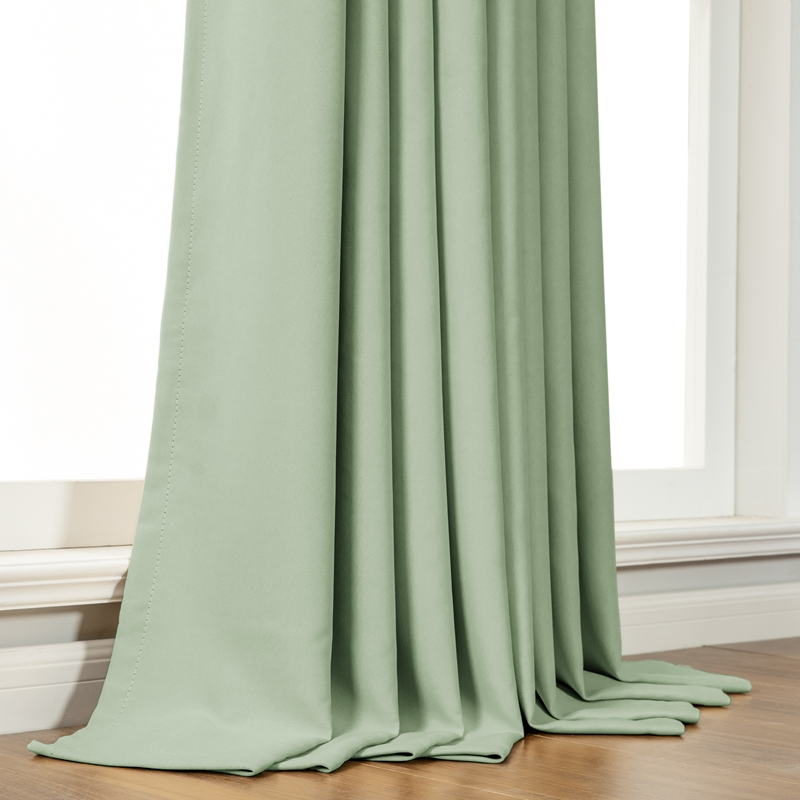 Modern Blackout Curtains For Living Room Bedroom Curtains For Window Treatment Drapes Green Finished Blackout Curtains 1 Panel Modern Blackout Curtains Curtains Forblackout Curtains Aliexpress