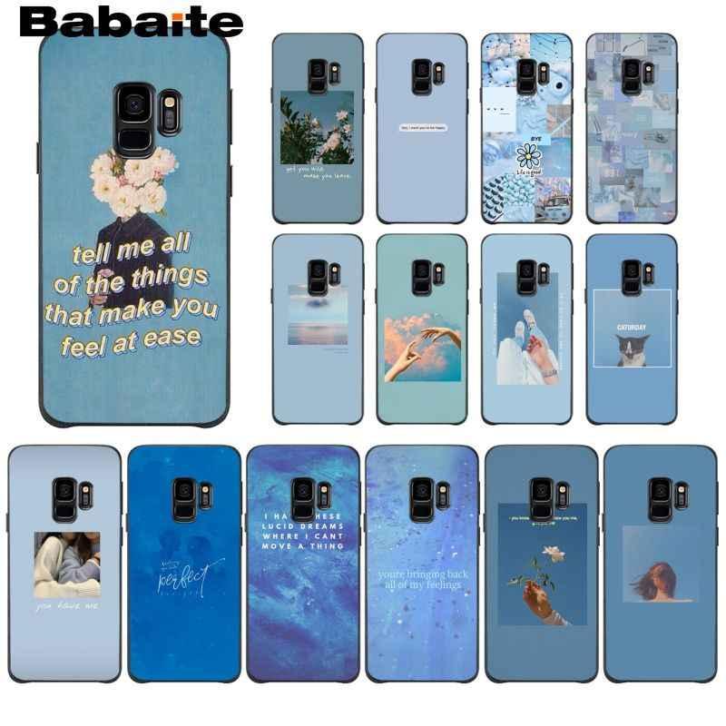 Blue Aesthetics Songs Lyrics Aesthetic Phone Case For Samsung Galaxy A10 30 20 40 50 30s A70 A10s 20s A2core A71 A9 Star Lite Phone Case Covers Aliexpress