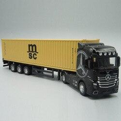 1:50 литый под давлением металлическая модель Контейнер для игрушек грузовик тянуть обратно со звуком светильник