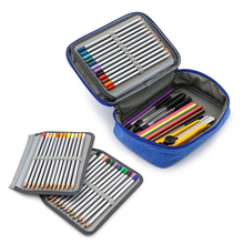 72 Holes Penalty School Pencil Case for Girls Boy Pen Box Cartridges Kit Pencilcase Large Back to School Bag Stationery Supplies sketch school pencil case 72 holes penalty pencilcase large zipper pen bag four multi layers boy girls set box stationery pouch