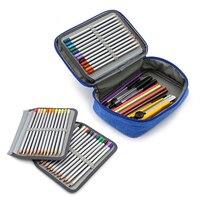 72 otwory kary szkoła piórnik dla dziewczynek chłopiec pudełko na długopis wkłady zestaw piórnik duża z powrotem do torba szkolna artykuły biurowe w Piórniki od Artykuły biurowe i szkolne na