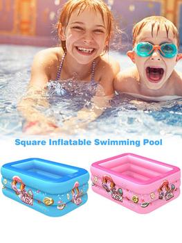 Kids Inflatable Swimming Pool, Blow Up Pool For Family Adult And Toddler, Kiddy Baby Square Pool Play Center