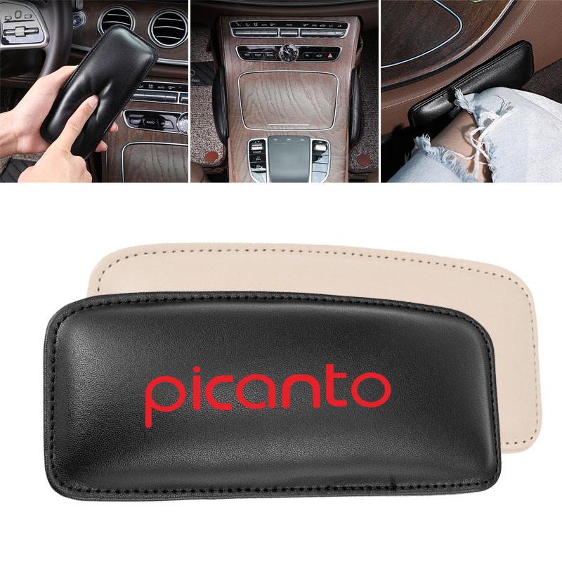Leather Leg Cushion Car Knee Pad For KIa Picanto Ceed 2019 Car Seat Cushion Foot Support Pillow