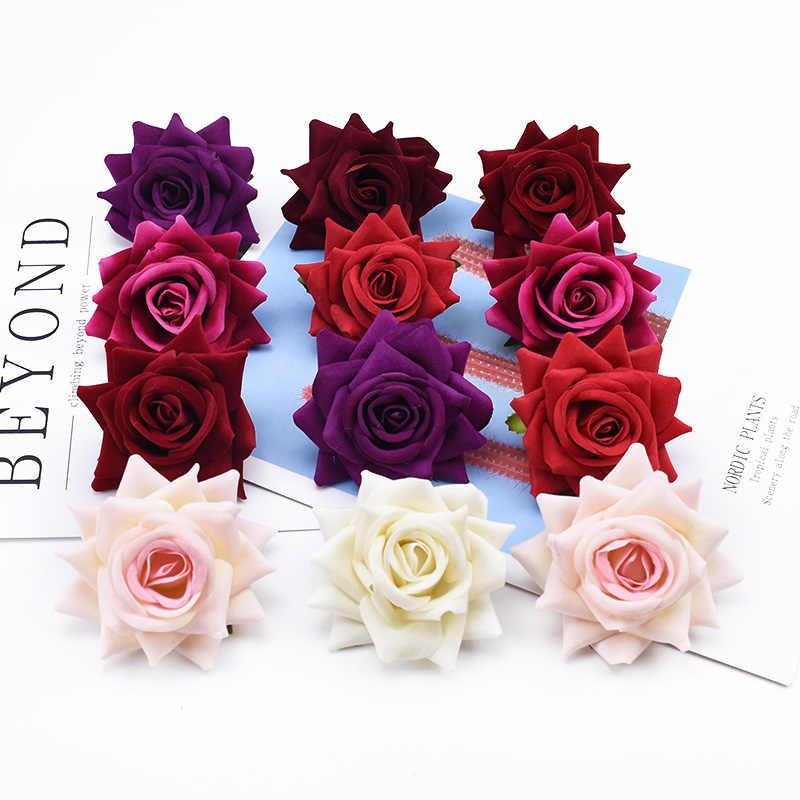 2/5/10 stück Flanell rosen dekorative blumen sammelalbum hochzeit braut zubehör freiheit geschenke wohnkultur künstliche blume