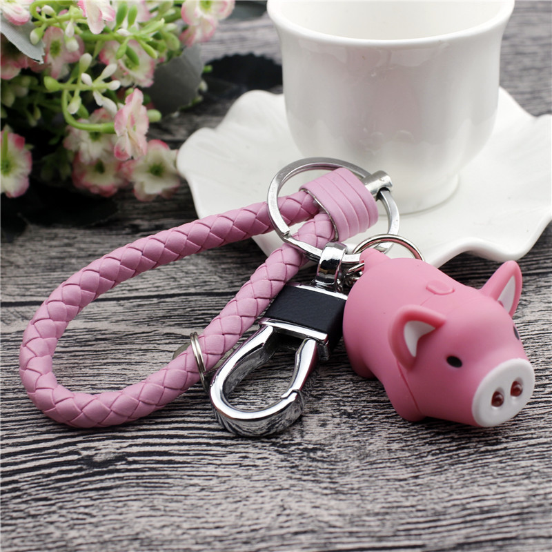 Keyring Creative Key Ring Pendant INS Online Celebrity Lock Cute Men And Women Cartoon Couples Car Key Chain Circle Pendant|Key Case for Car| |  - title=