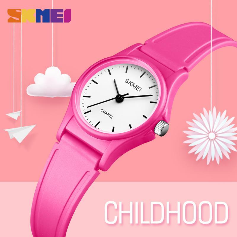 SKMEI NEW Стиль Дети Часы Повседневный Пластик Корпус Мальчики Девочки Дети Часы Открытый Спорт Водонепроницаемый PU Starp Кварц Наручные часы