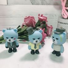 2019 Cartoon Exploding Bear GD Doll Key chain Male And female Car Bag Pendant Keychains  Metal Bear Doll Key Ring Accessories цена и фото