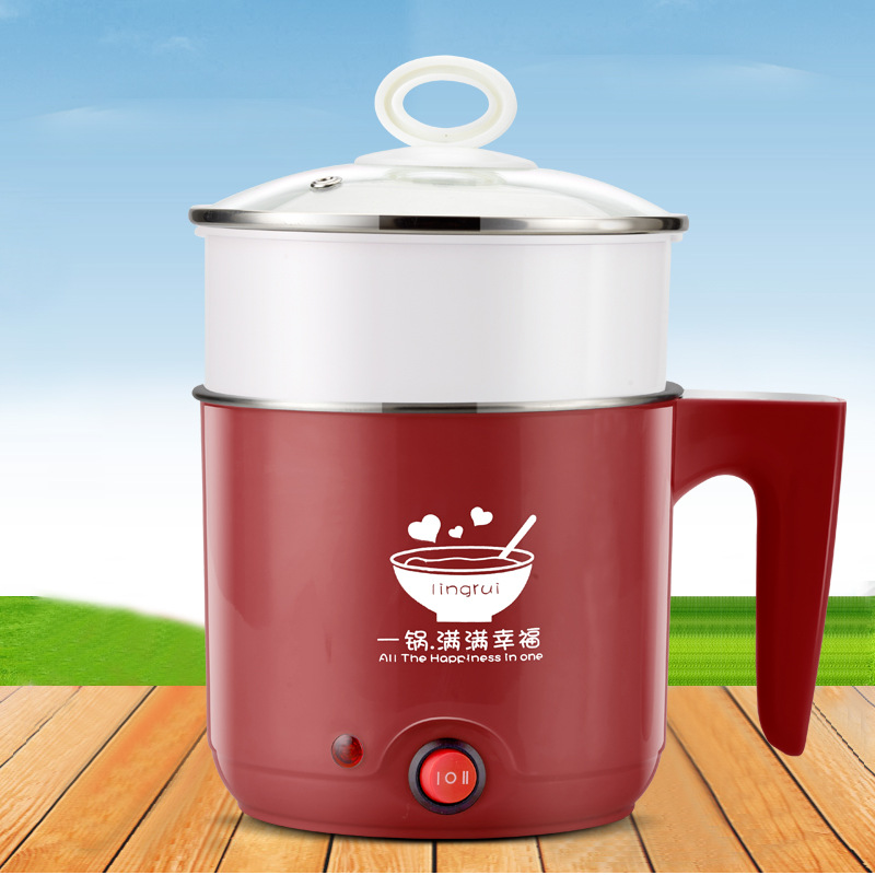 Sharp Collar 1L Mini Electric Cooker 304 Stainless Steel Multi-functional Electric Cup Electric Hot Pot Students Dormitory Insta