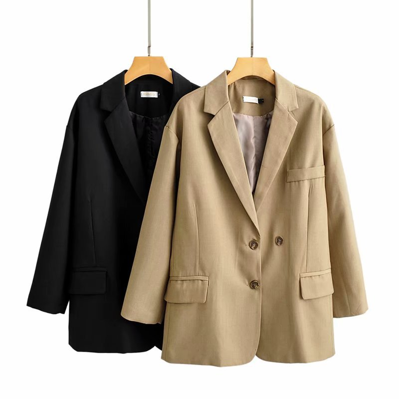 2020 Spring Suit Jacket Single Breasted Black Blazer Women Office Ladies Suits Solid Color