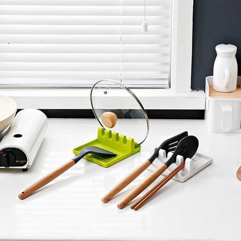 Kitchen Utensil Holder Cooking Tools Spoon Rest Heat Resistant Storage Shelves