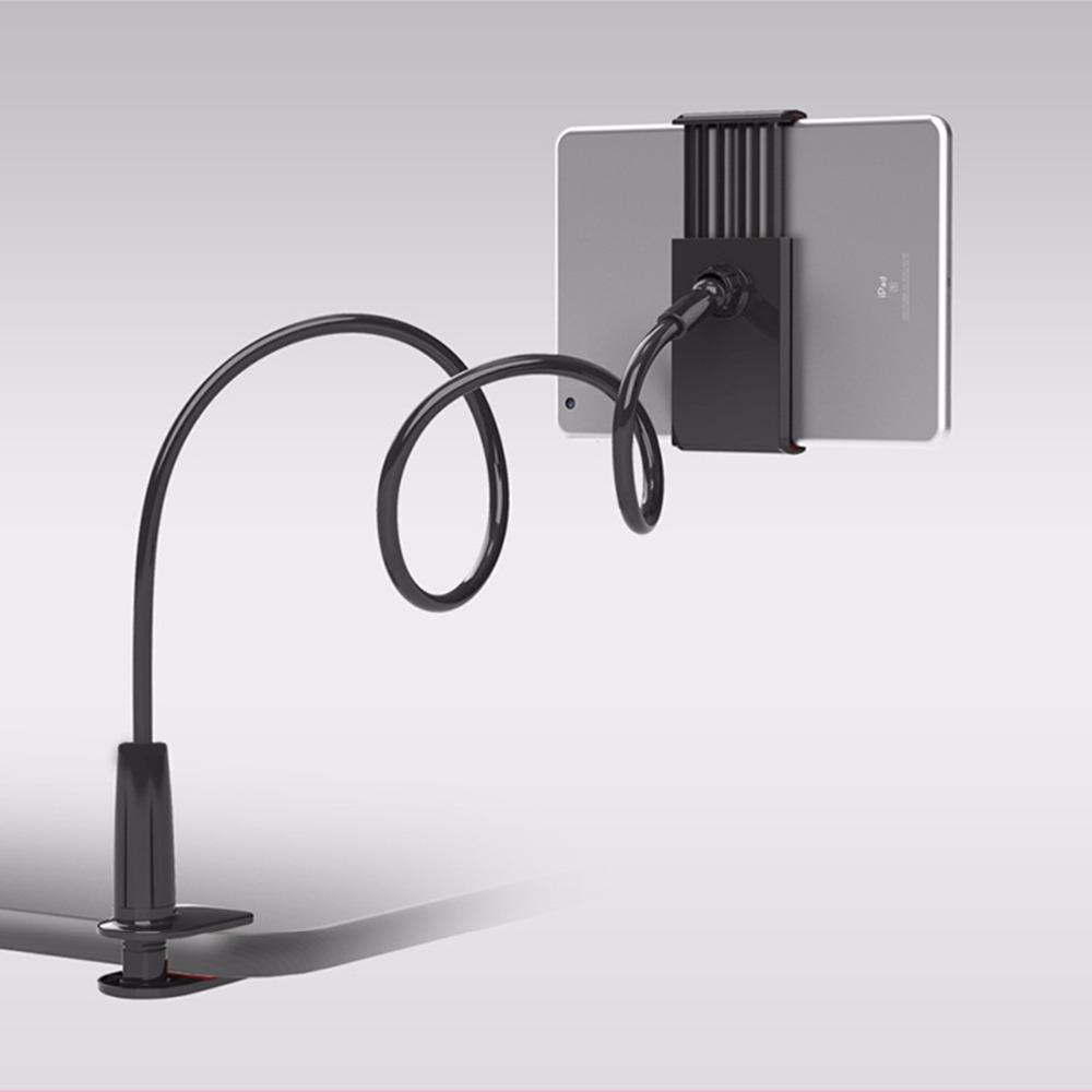 Gooseneck Tablet Holder 360 Rotating Flexible Long Arm Lazy Phone Holder Clamp Bed Tablet Car Selfie Mount Bracket For 4-10