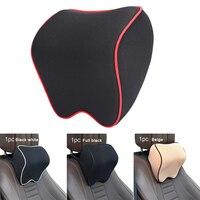 Universal Memory Schaum Auto Sitz Kopfstütze Pad Waschbar Einstellbare Neck Kissen Kopf Rest Unterstützung Kissen Schwarz/Beige