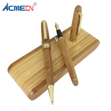ACMECN Natural Bamboo Ball Pen and Fountain Sets Luxury Gift Environment-Friendly Hand Made Writing Stationery Pen Gifts все цены