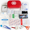 18 アイテム/44 個ポータブル旅行家庭用サバイバルキット多層 EVA 救急箱屋外駐車バッグ緊急キット