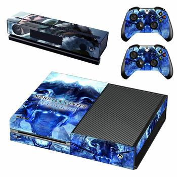 Łowca potworów świat Iceborne skórka naklejka naklejka pokrywa dla konsola Xbox One i Kinect i 2 kontrolery dla Xbox One skórka naklejka
