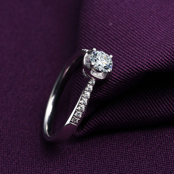 18k Gold And White Gold Group Diamond Ring Genuine Platinum Gold Gold Wedding Marriage Couple 3