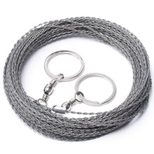 Outdoor Hand-Drawn Rope Saw 304 Stainless Steel Wire Saw Camping Life-Saving Woodworking Super Fine Hand Saw Wire 5M