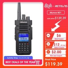 RETEVIS DMR Radio Ailunce HD1 Ham Radio IP67 Waterproof Digital Walkie Talkie (GPS) 10W VHF UHF Dual Band Two Way Radio Amador