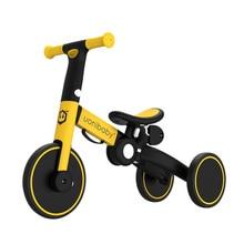Складной детский трехколесный велосипед Babyinner 5 в 1, Детские Прогулочные коляски, портативный детский велосипед, трехколесный велосипед 1-6 л...