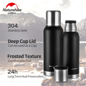 Image 4 - Naturehike Outdoor 5 Wall 304 Stainless Steel 24 Hour Vacuum Cup Flasks Coffee Tea Milk Travel Mug Thermo Bottle Gifts Thermocup