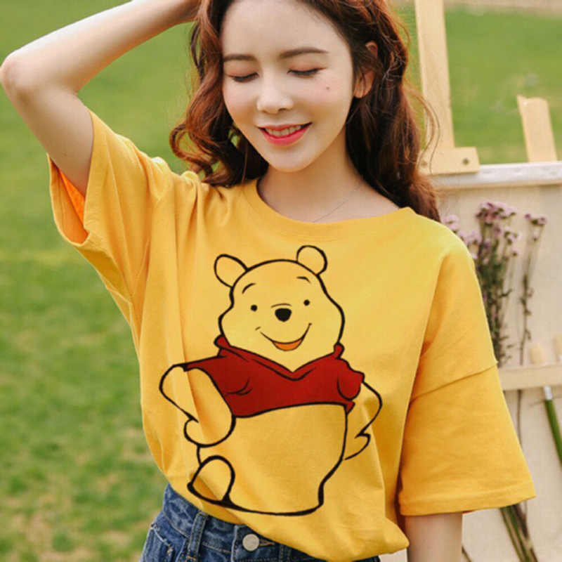Verano casual mujeres camisetas Ulzzang Streetwear kawaii dibujo impreso camiseta tops estilo coreano Harajuku Camiseta de manga corta