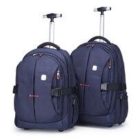 2021 erwachsene Rucksack Reise Reisetaschen Unisex Roller Tasche Trolley Fällen Handtasche mit Zugstange und Räder für Reise Geschäfts Reise