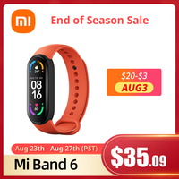 Xiaomi Mi Band 6 Globale Version optional Armband Farbe AMOLED Blut Sauerstoff Smart band Fitness Traker Herz Rate Bluetooth