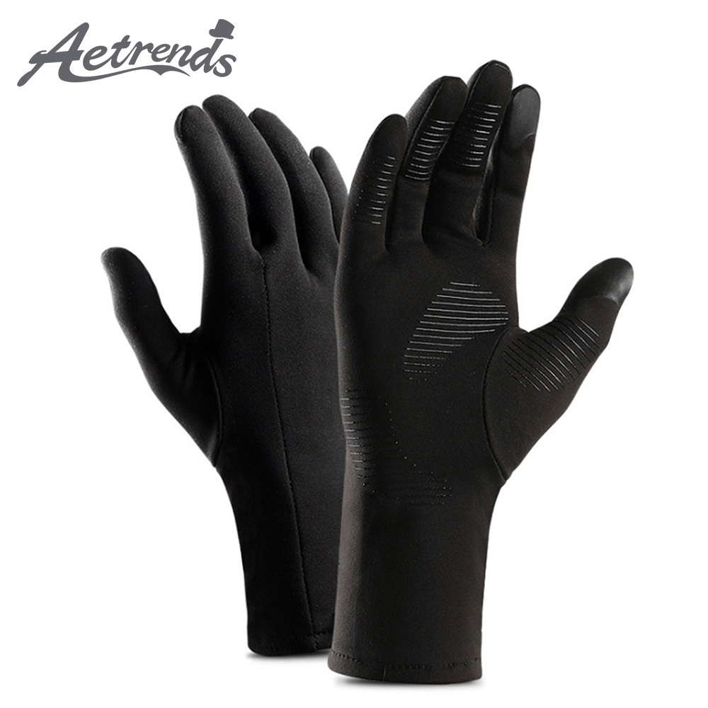 [AETRENDS] Men Women Lightweight Running Gloves Winter Warm Gloves For Cycling  Sports Hiking Driving O-0012