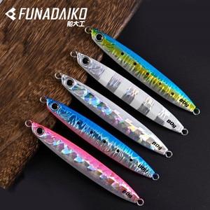 FUNADAIKO приманка для морской рыбалки, искусственная светящаяся приманка, 35 г, 45 г, 60 г, 80 г